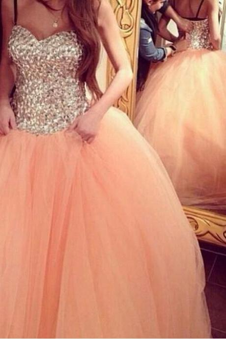 Sweetheart Luxury Beading Long Formal Dress Women Ball Gowns For Prom and Party