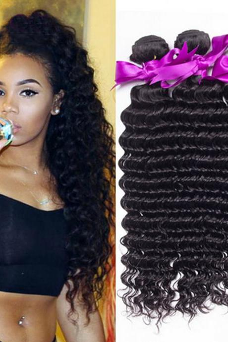 Top Selling 7A Unprocessed Peruvian Virgin Curly 3 Bundles Human Hair Weave Virgin Natural Colour,10 inch,100g/pcs